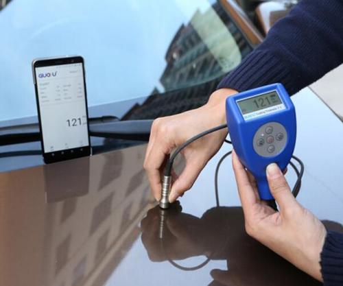 GTS820F對汽車表面漆膜層進行測量