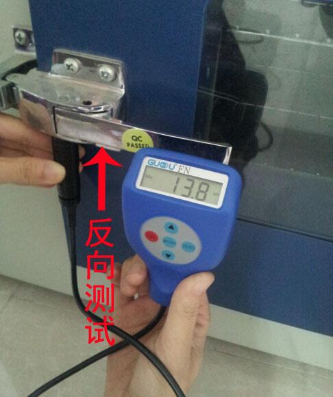 GTS8202涂層測厚儀對反面涂鍍層進行測試